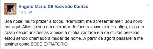 Coronel Ângelo usou redes sociais para falar sobre sua saída do comando geral da PM (Foto: Reprodução/Facebook)