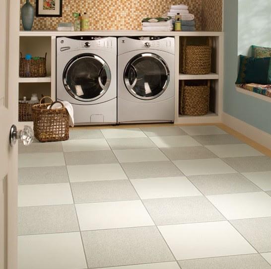 Laundry room Daltile Porcelain Floor Tile