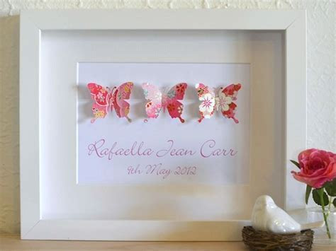 Adorable Paper Butterfly Themed Personalised Framed Wall