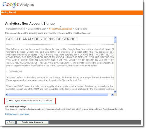 Google Analytics Blogger Step 4