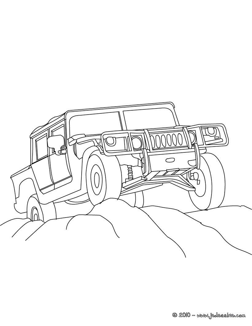 Pick up dans le desert  colorier