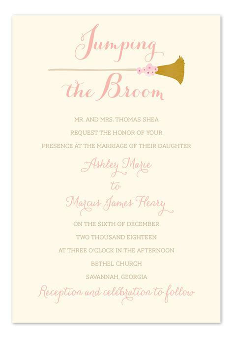Jumping the Broom   Wedding Invitations by Invitation
