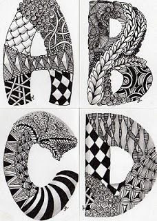 1000+ images about Zentangle/Doodle Letters on Pinterest | Jessica ...