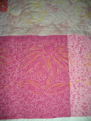 Detail of Pillow Back Quilting