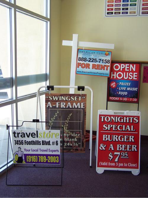 Signs On Time Inc Roseville A Frames