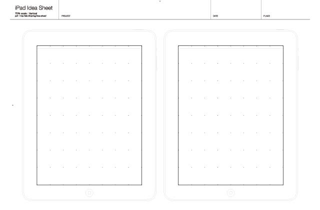 iPhone y la Hoja de Idea iPad