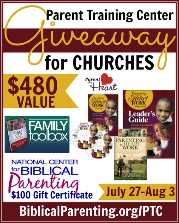 Parent Training Center Giveaway for Churches