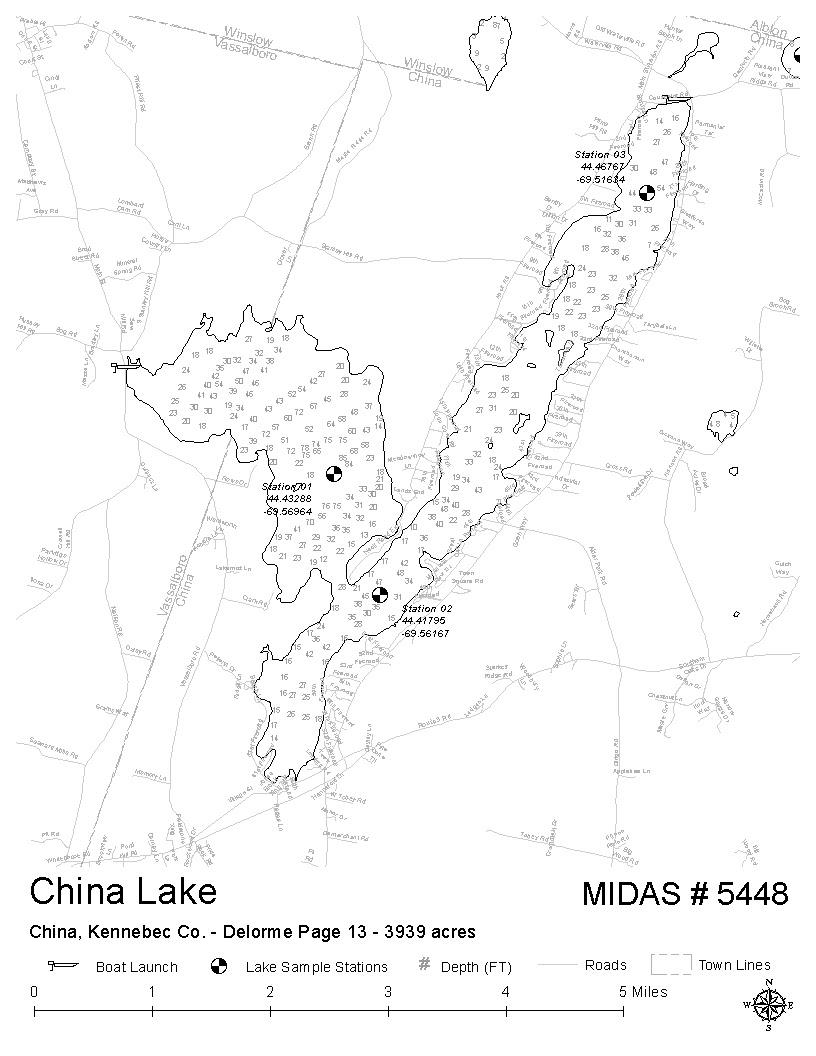 Lakes Of Maine Lake Overview China Lake China