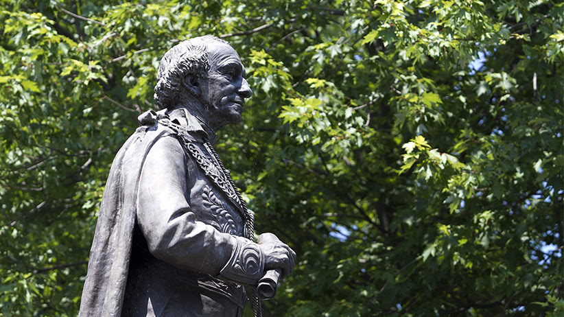 Sir John A. MacDonald's statue in Kingston, Ontario on June 21, 2012. (Lars Hagberg/CP)
