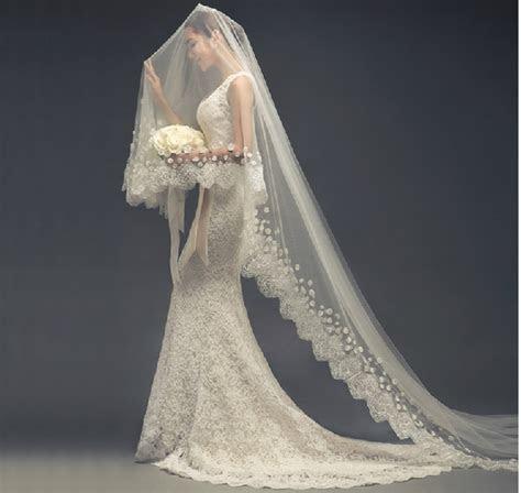2015 Wedding Dress Bridal Veil Wedding Accessories Long