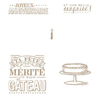 Grande Journée Clear Stamp Set (French)