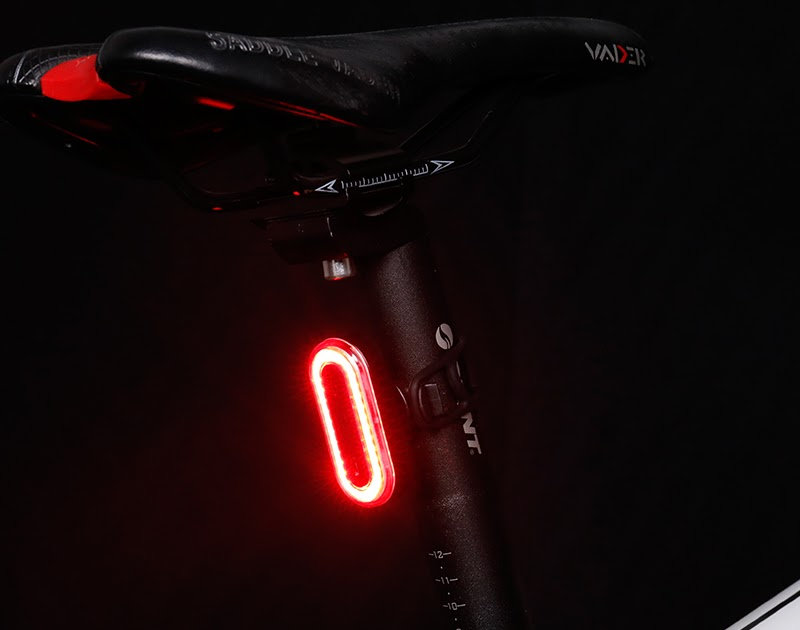 Deemount Cycle Tail Light Bike Rear Lamp USB Charge Warning Safety 5 LED