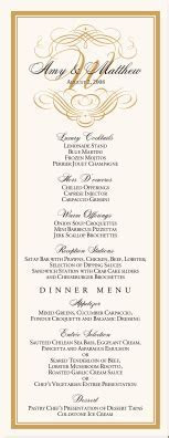 Flourish Monogram Menu Cards Custom Monogram Designs
