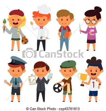 vector illustration   people   jobs