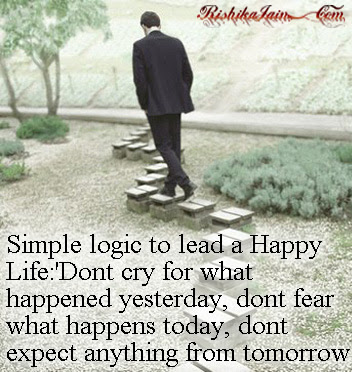 Simple Logic To Lead A Happy Life Quotes Pictures