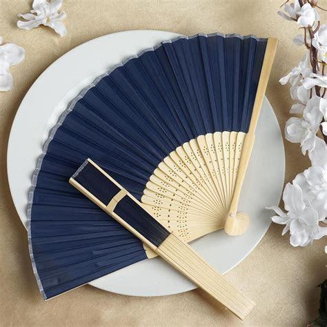 75 pcs HAND FANS Summer Silk Fabric Folding Wedding Favors