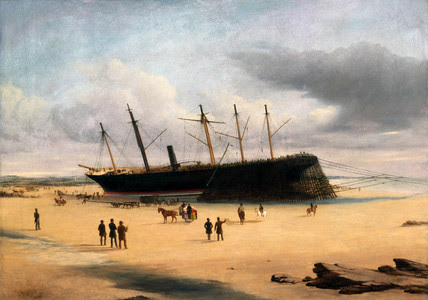 File:SS Great Britain stranded in Dundrum Bay.jpg