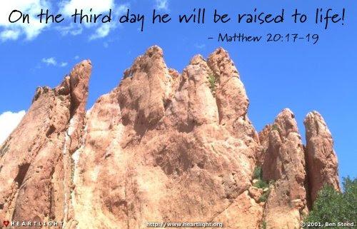 Inspirational illustration of Matthew 20:19