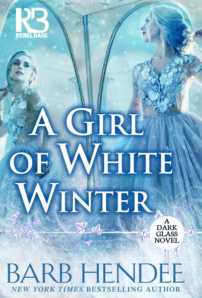 Book cover for  historical romance A Girl of White Winter from the A Dark Glass series by Barb Hendee.