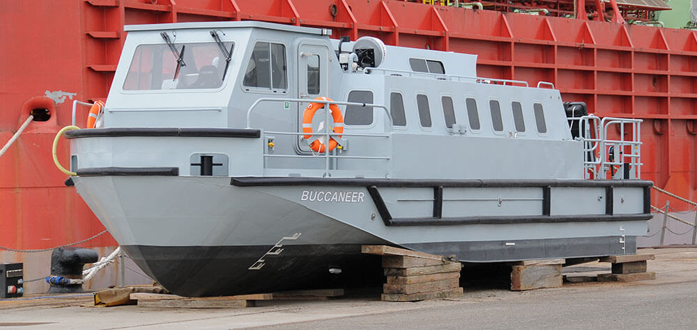 one of HMS Queen Elizabeth's passenger Transfer boats 'Buccanneer'