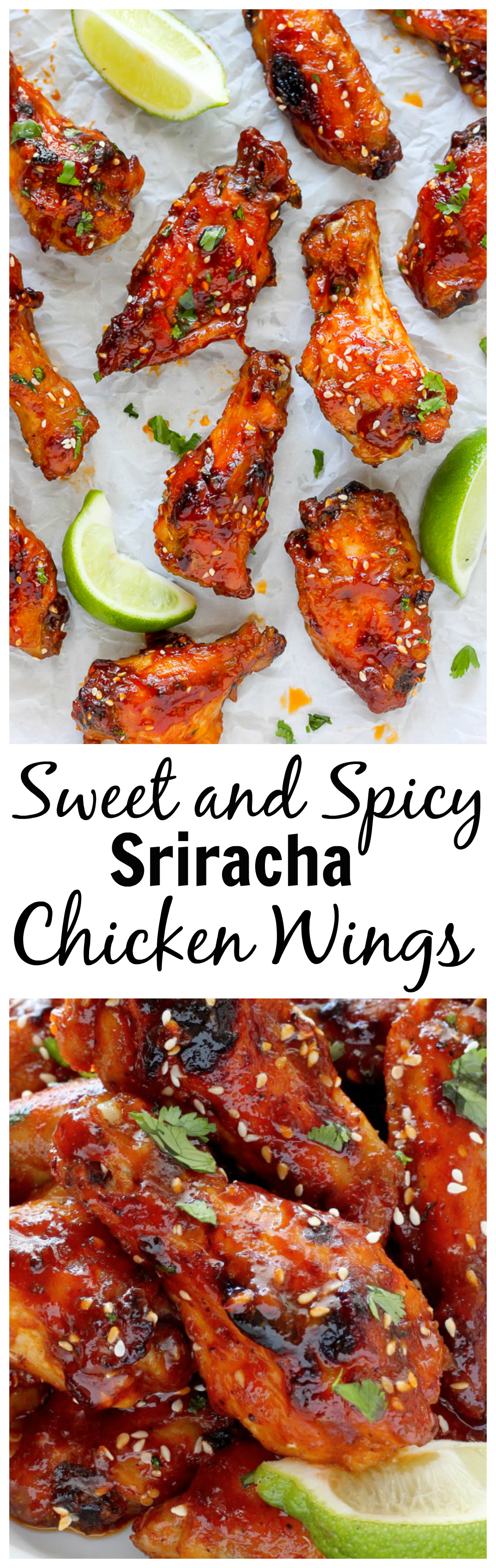Sweet and Spicy Sriracha Baked Chicken Wings Baker by Nature