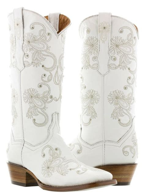 womens ido white wedding bridal western cowboy cowgirl