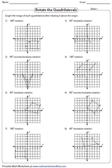 28 Rotations Worksheet 8th Grade   Free Worksheet Spreadsheet