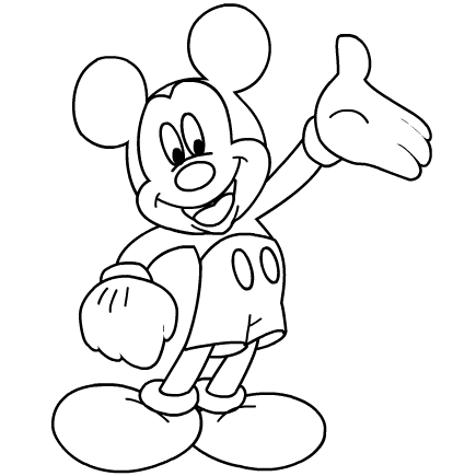 32 Mickey Mouse Printable Coloring Pages - Free Printable Coloring Pages
