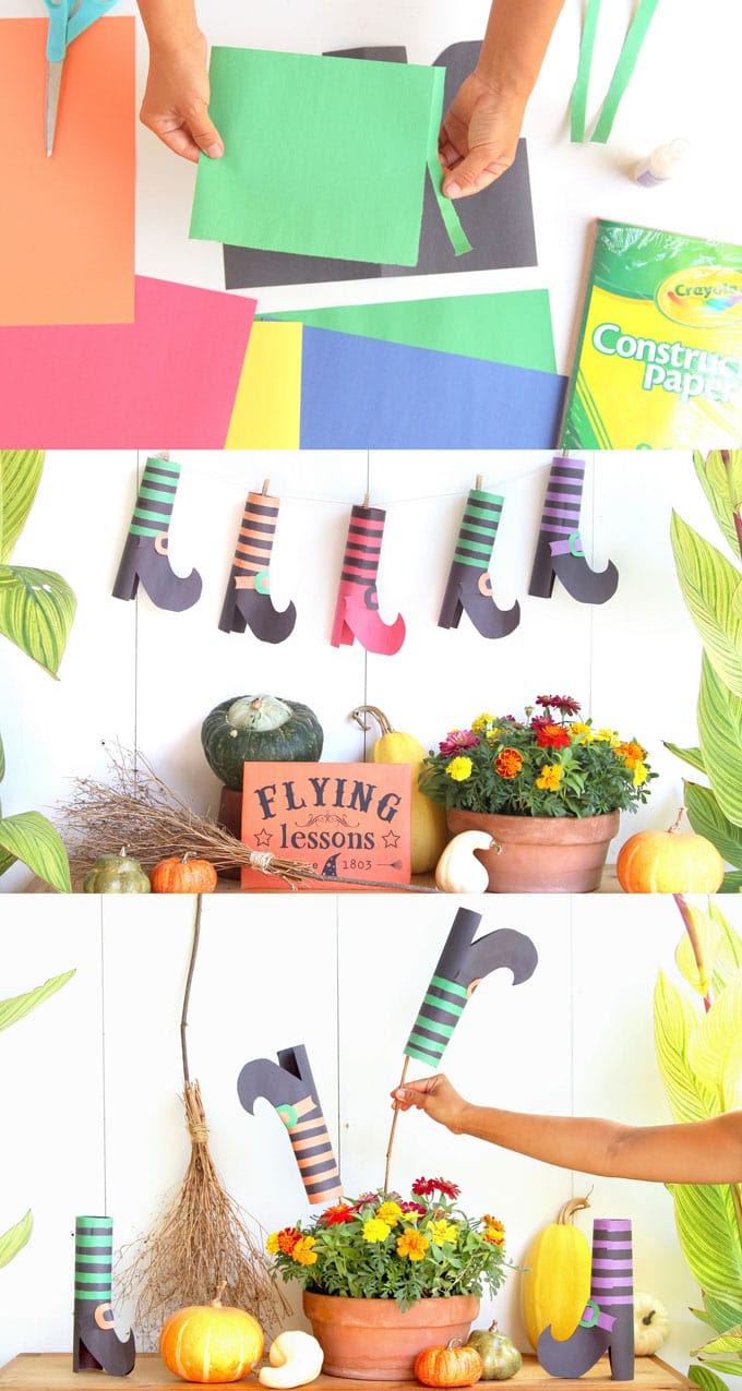Diy Witches Shoes Halloween Crafts Decorations A Piece Of Rainbow