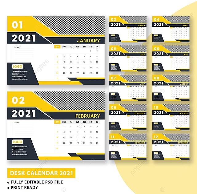 32+ Template Desain Kalender 2021