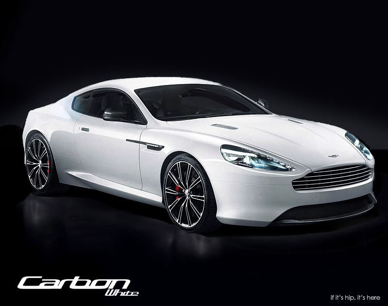 db9carbon white front three quarter IIHIH