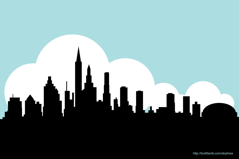 Free Printable New York City Skyline At Night Drawing ...