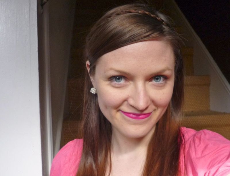 Hot pink lipstick, 22 April 2012