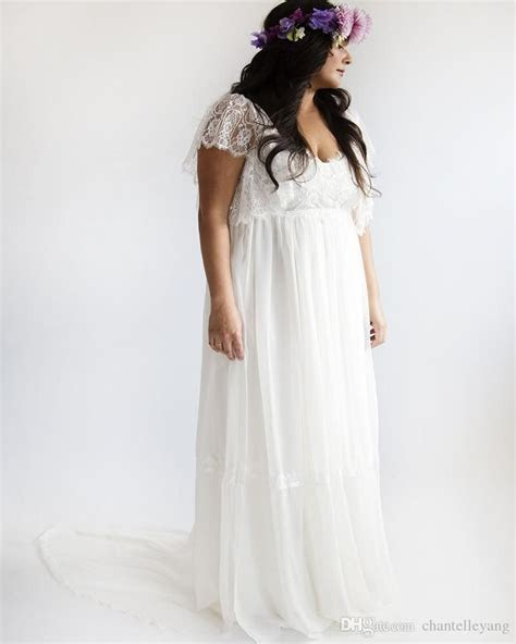 Plus Size Wedding Dresses 2016 Vintage Bohemian Short