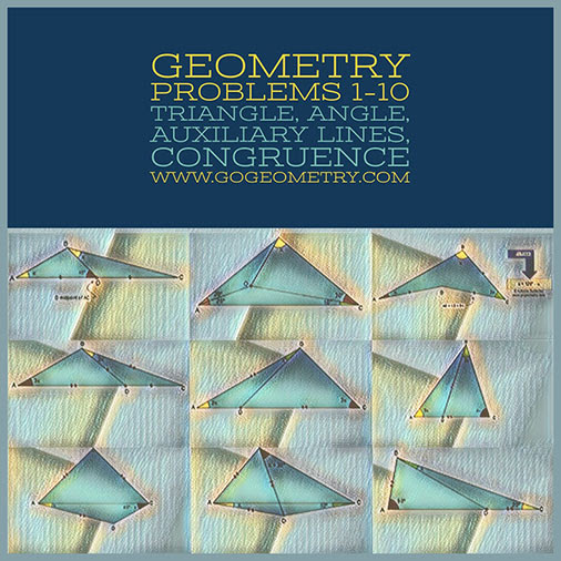 Geometric Art: Problems 1-10, Triangle, Angles, Auxiliary Lines, Congruence, Typography, iPad Apps.