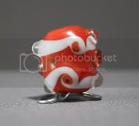 Bloody Mary Twist Lampwork Bead