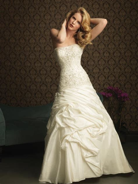 Ivory Strapless Beaded Embroidery A line/Princess 2011