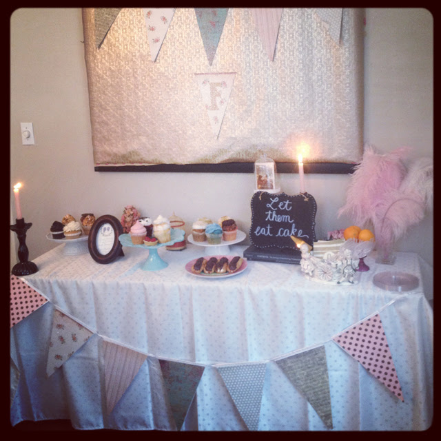 My Winter Marie Antoinette Themed Bridal Shower