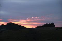 sunset at Wairakei