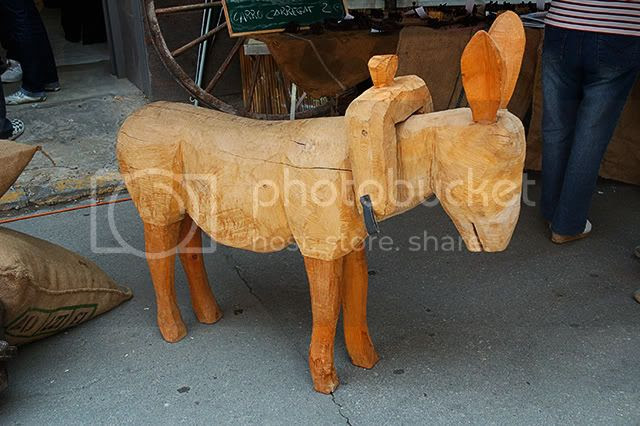 Wooden Donkey at Torrelles de Llobregat Market near Barcelona [enlarge]