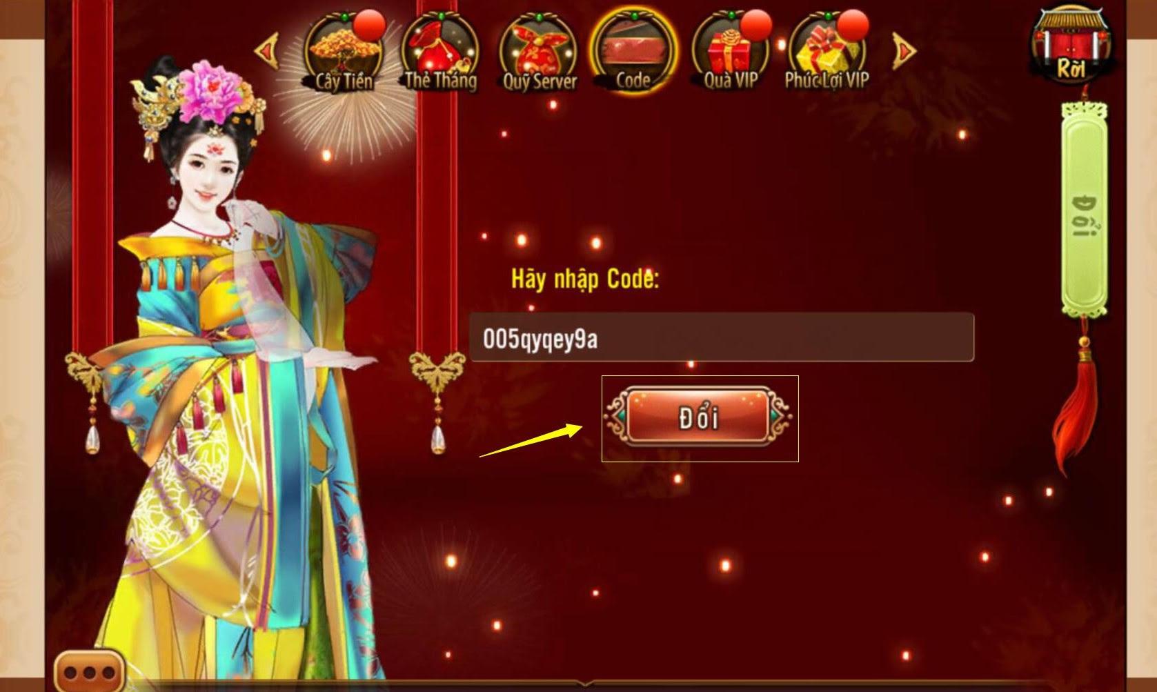 hướng dẫn nhận vip code Ngôi Sao Hoàng Cung 360mobi