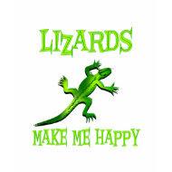 Lizards Make Me Happy shirt