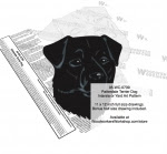 Patterdale Terrier Dog Intarsia or Yard Art Woodworking Pattern - fee plans from WoodworkersWorkshop® Online Store - Patterdale Terrier Dog,dogs,pets,animals,yard art,painting wood crafts,scrollsawing patterns,drawings,plywood,plywoodworking plans,woodworkers projects,workshop blueprints