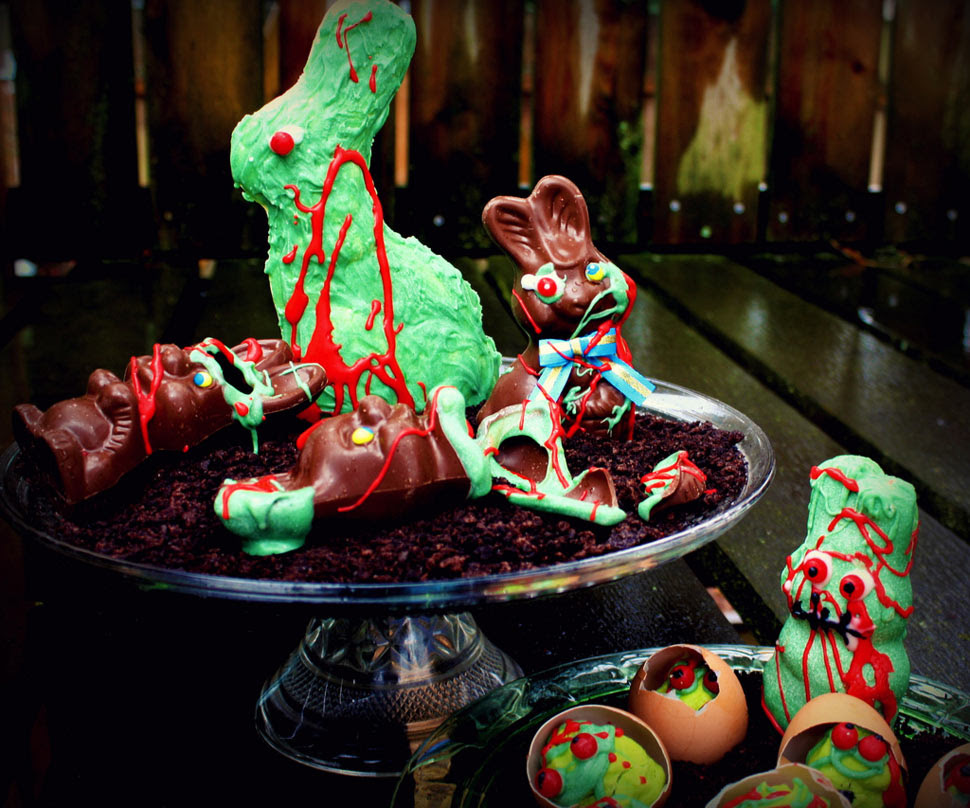HOWTO make zombie chocolate bunnies and undead eggs for ...