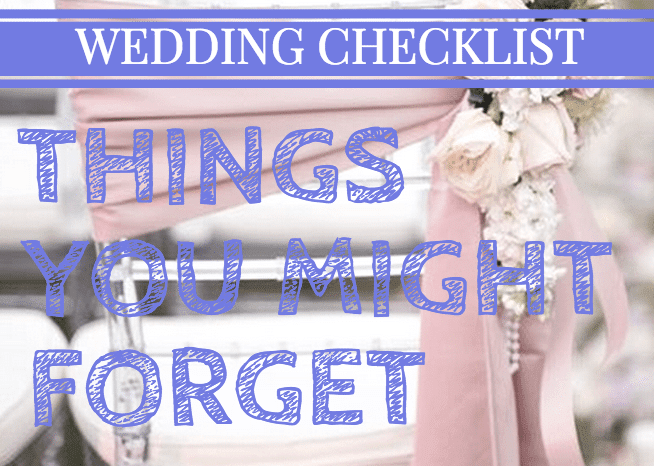 Wedding Planner: Wedding Checklist Things You Forget
