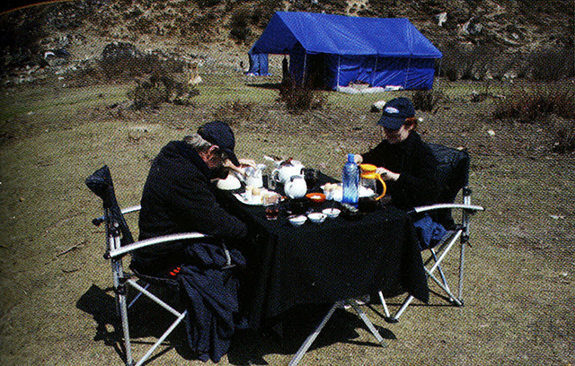 Table & Chairs during Trekking