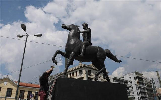 agalma-tou-megalou-aleksandrou-topothetithike-sto-kentro-tis-athinas