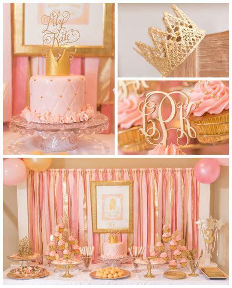 Kara's Party Ideas Pink & Gold Princess Themed Birthday Party