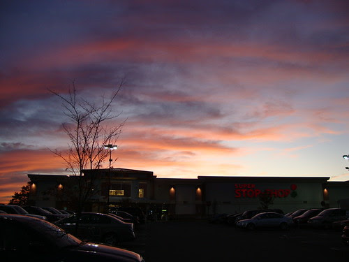 Sunset over Stop and Shop