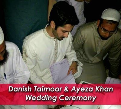 Danish Taimoor & Ayeza Khan Wedding Ceremony   Fashion